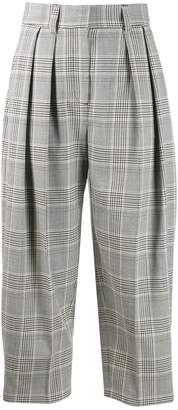 See by Chloe cropped plaid trousers