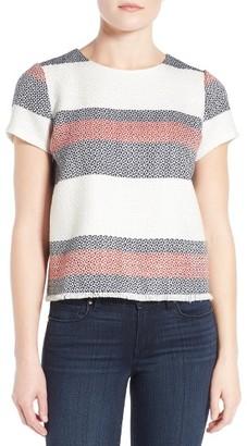 Women's Halogen Stripe Tweed Top $79 thestylecure.com