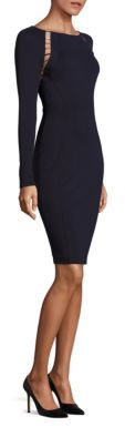 Versace Collection Long Sleeve Shoulder-Slit Jersey Dress $995 thestylecure.com