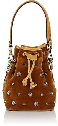 Fendi Women's Mon Tresor Mini Velvet Bucket Bag