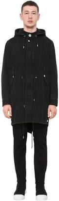 Givenchy Hooded Cotton Denim Parka