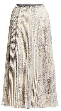 RED Valentino Women's Cascading Star Pleated Midi Skirt