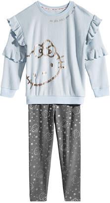Hello Kitty Little Girls 2-Pc. Hacci Top & Leggings Set