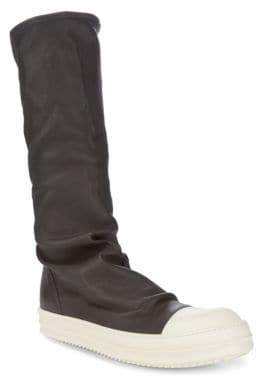 Rick Owens Slip-On Leather Boots
