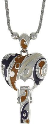 Lauren G. Adams Lauren G Adams Colored Enamel Heart ID Card Holder Necklace