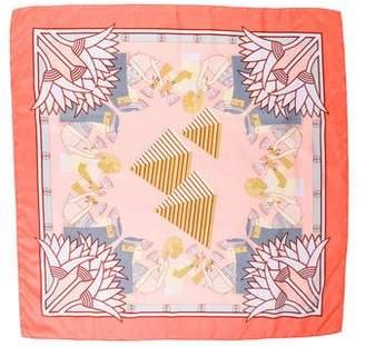 Hermes Theme Egypte Silk Scarf