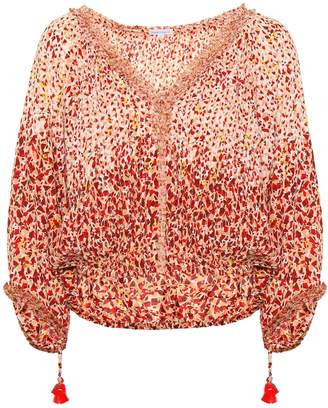 Poupette St Barth Paloma printed top