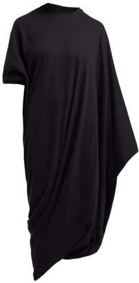 Vetements Asymmetric Midi T Shirt Dress - Womens - Black