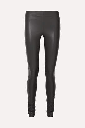 Joseph Leather Leggings - Gray