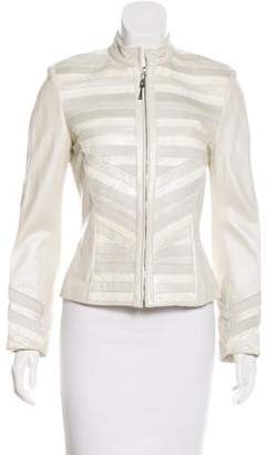 St. John Paneled Leather Jacket
