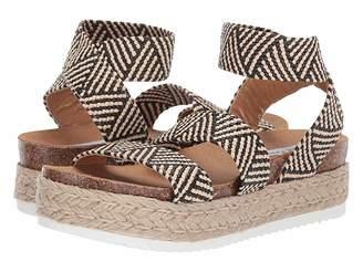 3fdb3328be6 Steve Madden Black Multi Strap Women s Sandals - ShopStyle