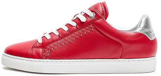 Zadig & Voltaire Women's ZV1747 Studded Lace Up Leather Sneakers