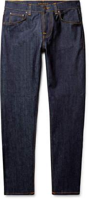 Nudie Jeans Steady Eddie II Tapered Distressed Organic Denim Jeans - Men - Blue