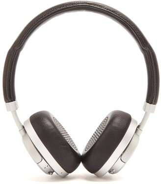Master & Dynamic - Mw50 Leather On Ear Wireless Headphones - Mens - Black Silver