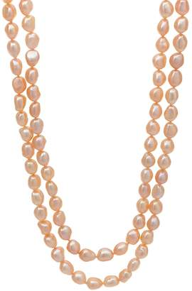 """Honora Cultured Pearl 8.0mm Baroque 50"""" Necklace Sterling Silver"""