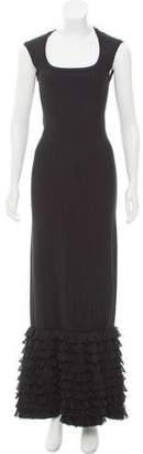 Alaia Rib Knit Maxi Dress