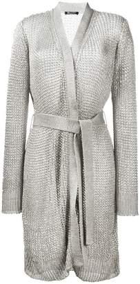 Balmain tie-waist knitted jacket