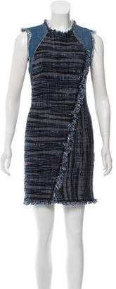 Rebecca Taylor Denim Tweed Dress