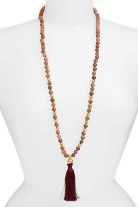 Gorjana Hannah Drusy Tassel Necklace