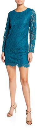 Kensie Winter Lace Long-Sleeve Sheath Dress