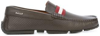 Bally perforated loafers