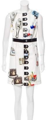 Louis Vuitton 2015 Stickers Print Dress w/ Tags