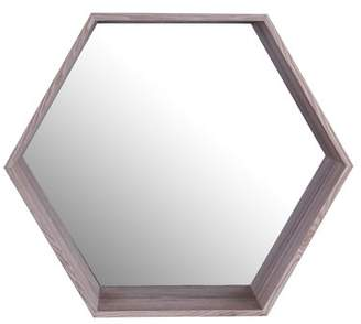 Foundry Select Beckett Wooden Shelf Accent Mirror