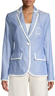 Tommy Hilfiger Cotton Embroidered Blazer Jacket