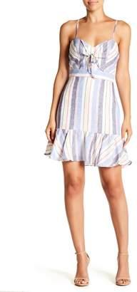 Parker Tie Front Striped Dress