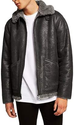 Topman Faux Shearling Jacket
