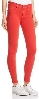 Hudson Nico Mid Rise Super Skinny Jeans in Distressed Rococo Red