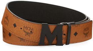 MCM Visetos Reversible Matte-Buckle Belt $295 thestylecure.com
