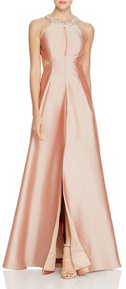 Aidan Mattox Embellished Neck Cutout Gown $395 thestylecure.com