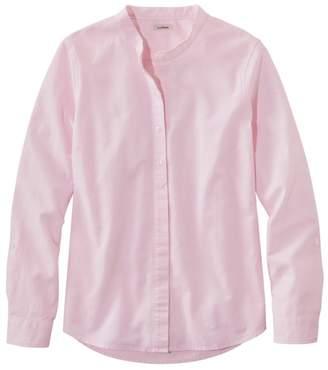 L.L. Bean L.L.Bean Women's LakewashedA Organic Cotton Oxford Shirt, Roll Tab