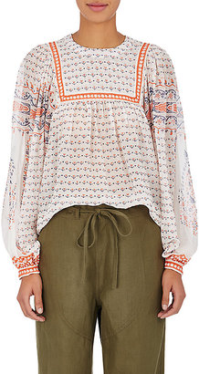 Ulla Johnson Women's Minou Silk Blouse $415 thestylecure.com