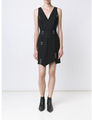 Mugler piercing detail asymmetric dress $2,376 thestylecure.com