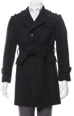 Thom Browne Wool Double-Breasted Coat