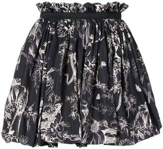 Alexander McQueen bird sketch mini skirt