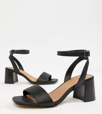 Asos Design Wide Fit Tyrell Heeled Sandals