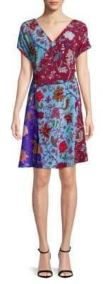 Diane von Furstenberg Short-Sleeve Silk Wrap Dress