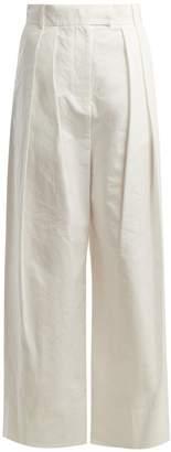 Awake High-rise wide-leg trousers