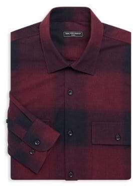 Saks Fifth Avenue MODERN Flannel Cotton Button-Down Shirt