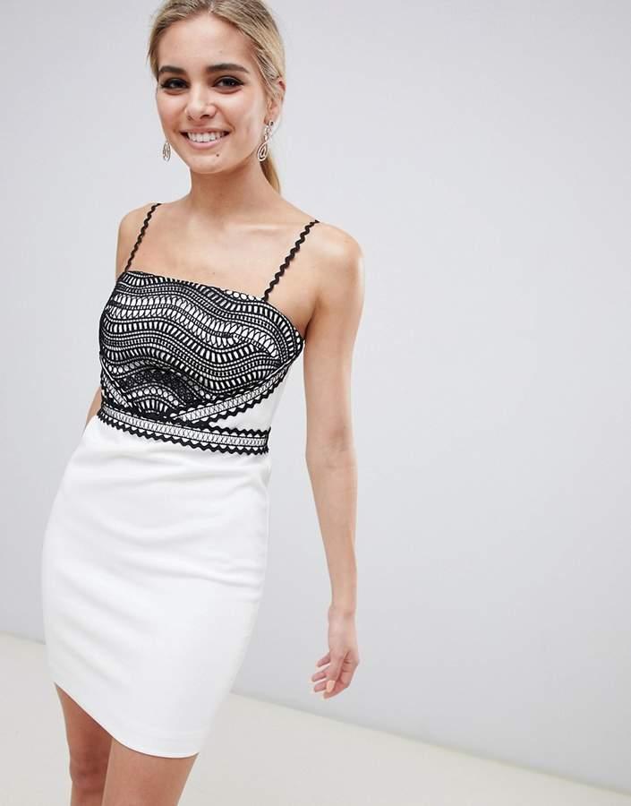 Stylestalker Dahlia Lace Detail Mini Dress
