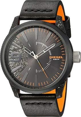 Diesel Men's Rasp IP and Leather Watch DZ1845