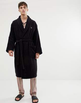 Paul Smith zebra logo robe in black