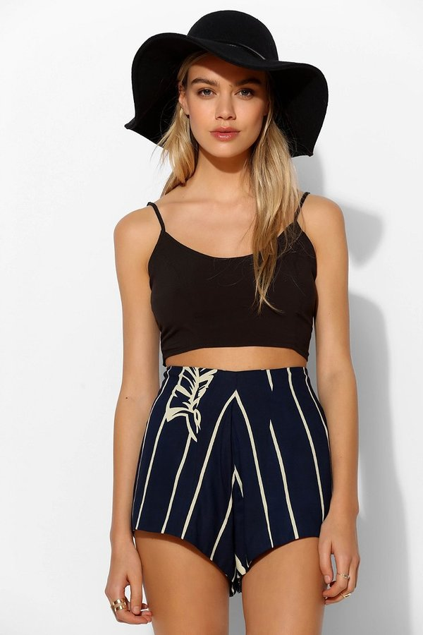 Urban Outfitters Bohemian Bones Striped Pinup Short