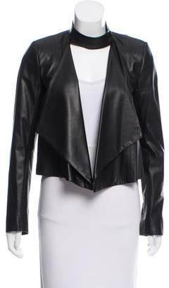 Intermix Structured Leather Jacket