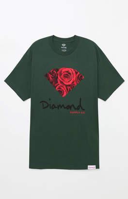 Diamond Supply Co. OG Sign Rose Green T-Shirt