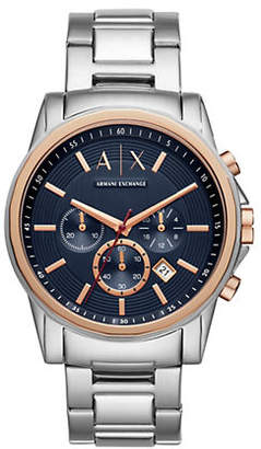Armani Exchange Outer Banks Aix Stainless Steel Chronograph Bracelet Watch