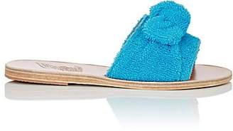 Ancient Greek Sandals Women's Taygete Bow Terry Slide Sandals - Turquoise
